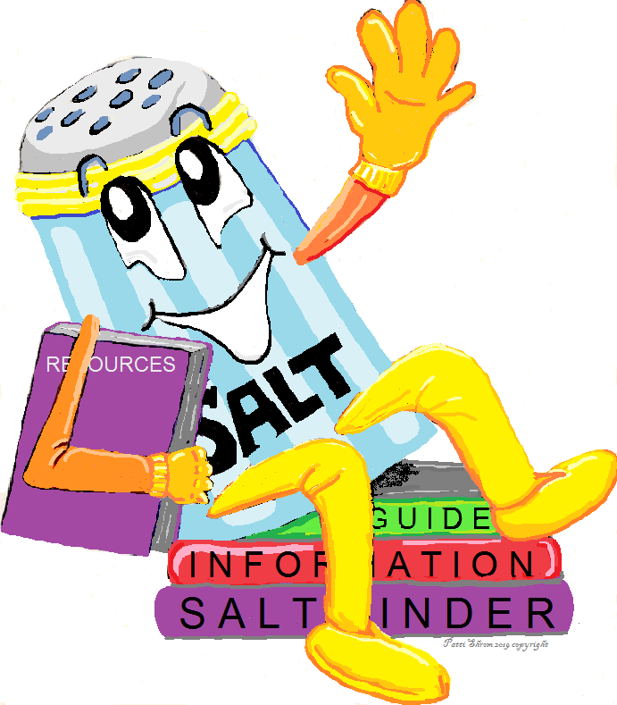 SALT Shaker sitting on resource books